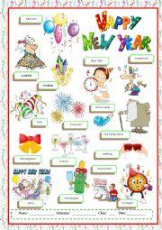 English Worksheet: Happy New Year vocabulary