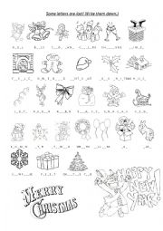 English Worksheet: Christmas�New Year vocabulary