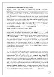 English Worksheet: 2nd form 2nd term language revision worksheet