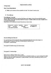 Argumentative Essay - Presenting both sides of an argument