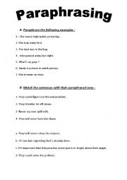 Worksheet Paraphrasing Worksheets english worksheets paraphrasing page 8 paraphrasing