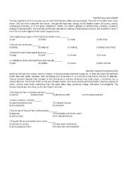 English Worksheet: ITEMS ABOUT NATURAL RESOURCES AND MISUSE OF NATURAL RESOURCES