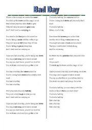shane koyczan instructions for a bad day lyrics