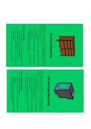 English Worksheet: Recyclable materials (1/2)