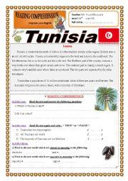 English Worksheet: Tunisia