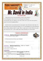 Mr. David in India