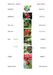English Worksheet:   Soft Fruit