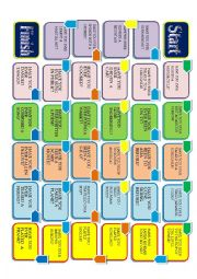 English Worksheet: HAVE YOU EVER...BOARD GAME