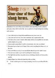 English Worksheet: Using Slang (British, American & Austrialien)