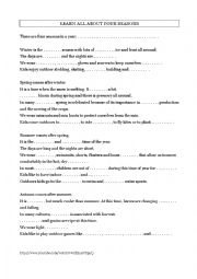 English Worksheet: Listening - Learn all about four seasons