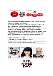 English Worksheet: Red Nose Day - British Charity