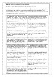 English Worksheet: Problems/ Advice / Consequences Activity