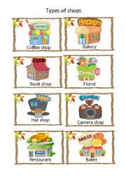 English Worksheet: Types of shop