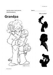 English Worksheet: Grandpa Kinder worksheet