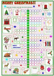 English Worksheet: Merry Christmas :crossword