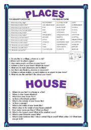 english worksheets describing places worksheets page 2. Black Bedroom Furniture Sets. Home Design Ideas