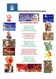 A Christmas poem and the 8 Santa´s reindeer
