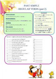 Past Simple - regular verbs (part 2)