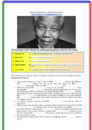 Nelson Mandela (Interview Extract 2000) (Listening Comprehension) [Mp3 Link inside the doc]