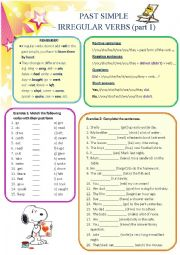 Past Simple - irregular verbs (part 1)