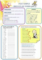 Past Simple - irregular verbs (part 2)