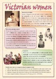 English Worksheet: Victorian Women