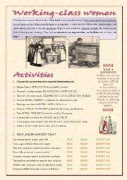 English Worksheet: Victorian Women (part 2)