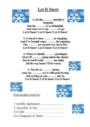 English Worksheet: Let it snow, Christmas song