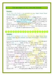 English Worksheet: TENSES REVISION!!! LOTS OF EXERCISES + KEY! :)