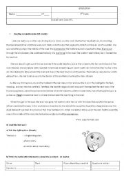 English Worksheet: end of term test 1 /1st form
