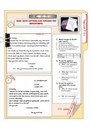English Worksheet: A LETTER OF INVITATION AND A REPLY (+KEY)