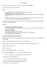 English Worksheet: Job/work/career