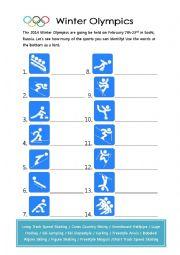 2014 Winter Olympics Sports
