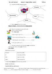 English Worksheet: happy birthday (part 2)