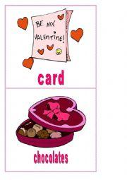 English Worksheet: Valentine´s Day - flashcards