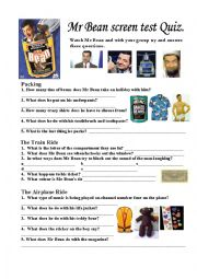 Home > travels worksheets > Mr Bean Rides Again Part 1