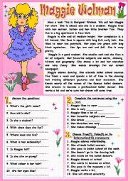 English Worksheet: Maggie Wolman