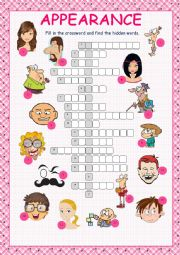 English Worksheet: Appearance Crossword Puzzle
