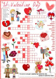 St Valentine´s Day - crossword
