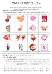 English Worksheet: The history of Valentine´s day