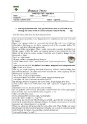 English Worksheet: The short story - family supper test
