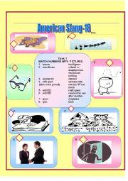 English Worksheet: American Slang-18