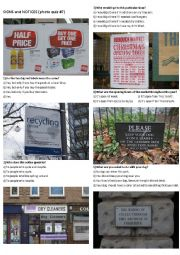 SIGNS AND NOTICES #7 (10 photos on 2 pages)
