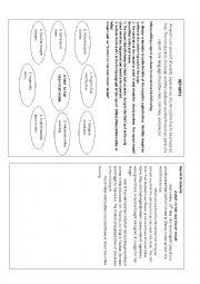 English Worksheet: Report Writing