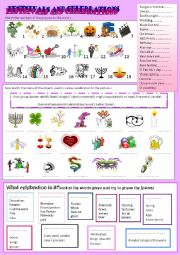 English Worksheet: festivals and celebrations