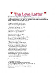 English worksheet The Love Letter ESL Printables