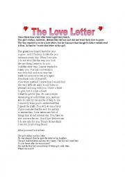 English worksheet: The Love Letter