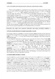 English Worksheet: 3 different mid-term tests for first year secondary education