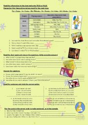 English Worksheet: tv programs