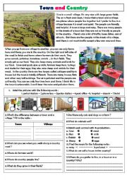 English Worksheet: a country or a city